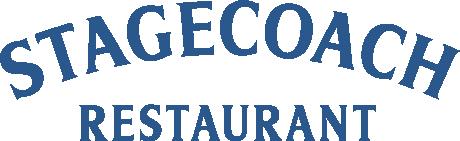 Stagecoach Restaurant logo in blue